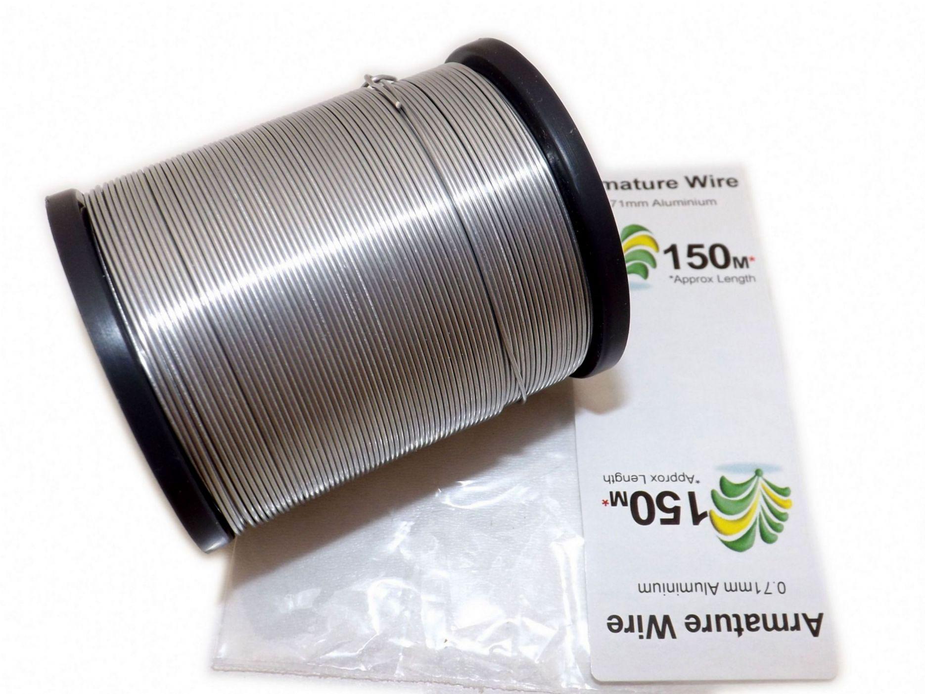 Bare Aluminium Wire Spools - 0.56mm - 4.55mm